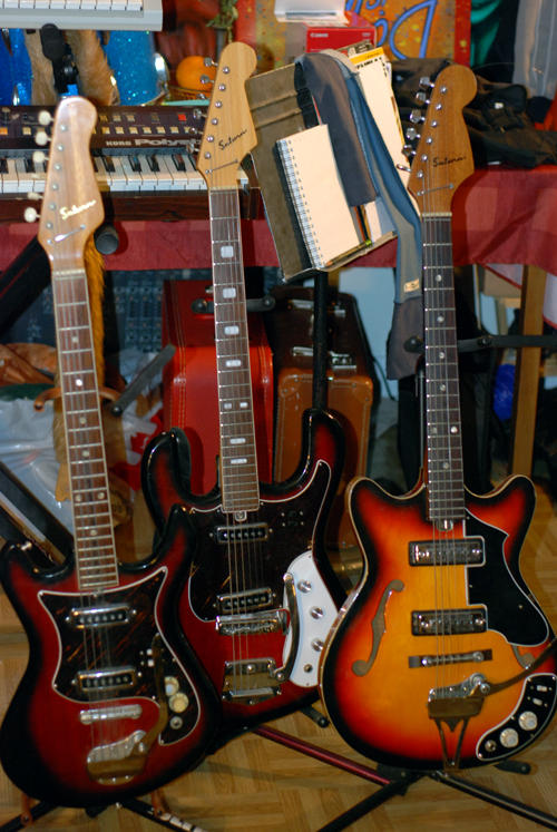 Two Vintage Japanese Solid-body Saturn Guitars