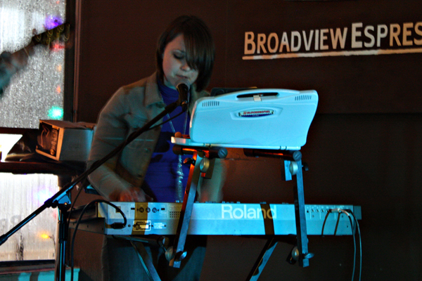 Dog Is Blue Live at Broadview Espresso in Toronto on Jan. 8, 2011, by Louise Andre