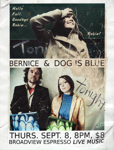 Dog Is Blue & Bernice Live At Broadview Espresso 08-09-11