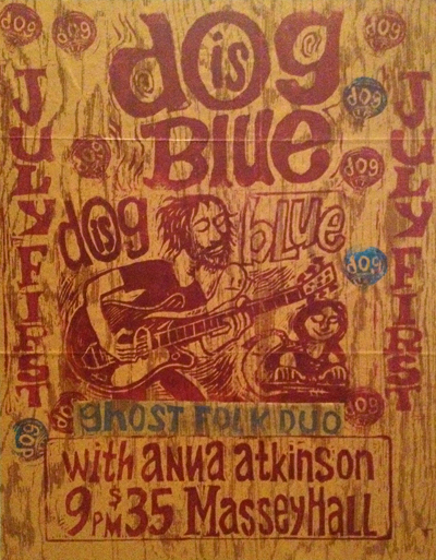 Dog Is Blue and Anna Atkinson at Massey Hall by Tom Yeo